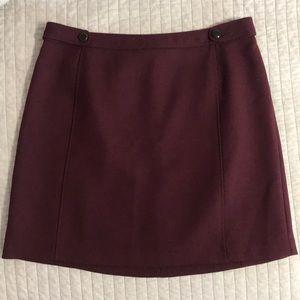 Brooks Brothers Burgundy A-Line Skirt